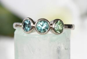 Gemstone Engagement Rings by Lilia Nash